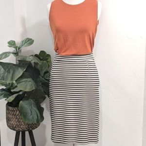 Banana Republic Striped Pencil Skirt